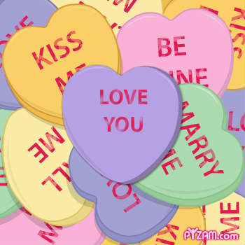 Knarserpapin Valentines Heart Candy Sayings